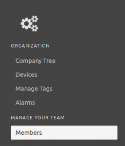 Configuration manage members button