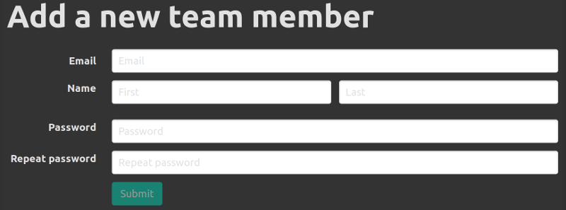 Configuration new member form
