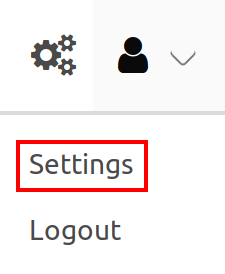 Configuration user settings button
