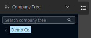 Configuration company entry only in company tree
