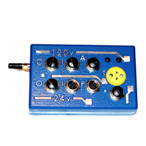 monitoring device with black buttons