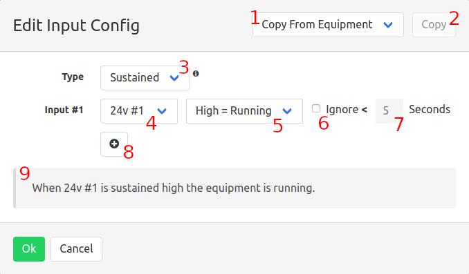 Edit input config dialog